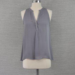 Joie Blue / Grey V Neck Silk Top - XS